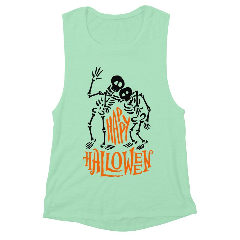 skeletons brothers  Women's Muscle Tank by artfanat.shop