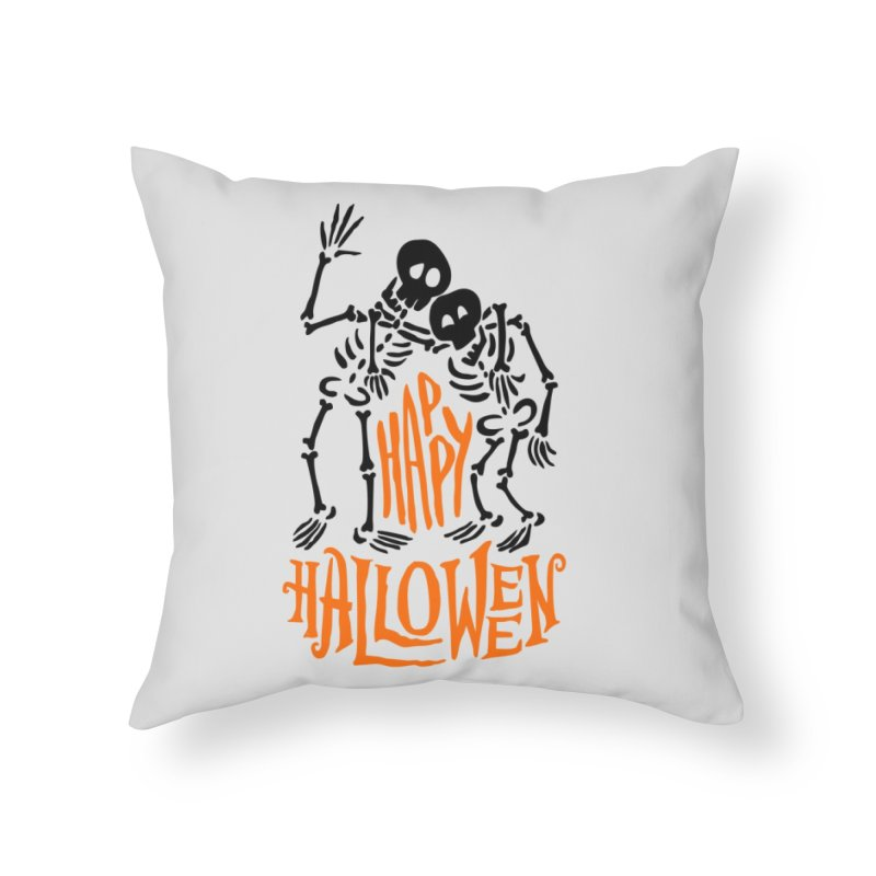 skeletons brothers  Home Throw Pillow by artfanat.shop