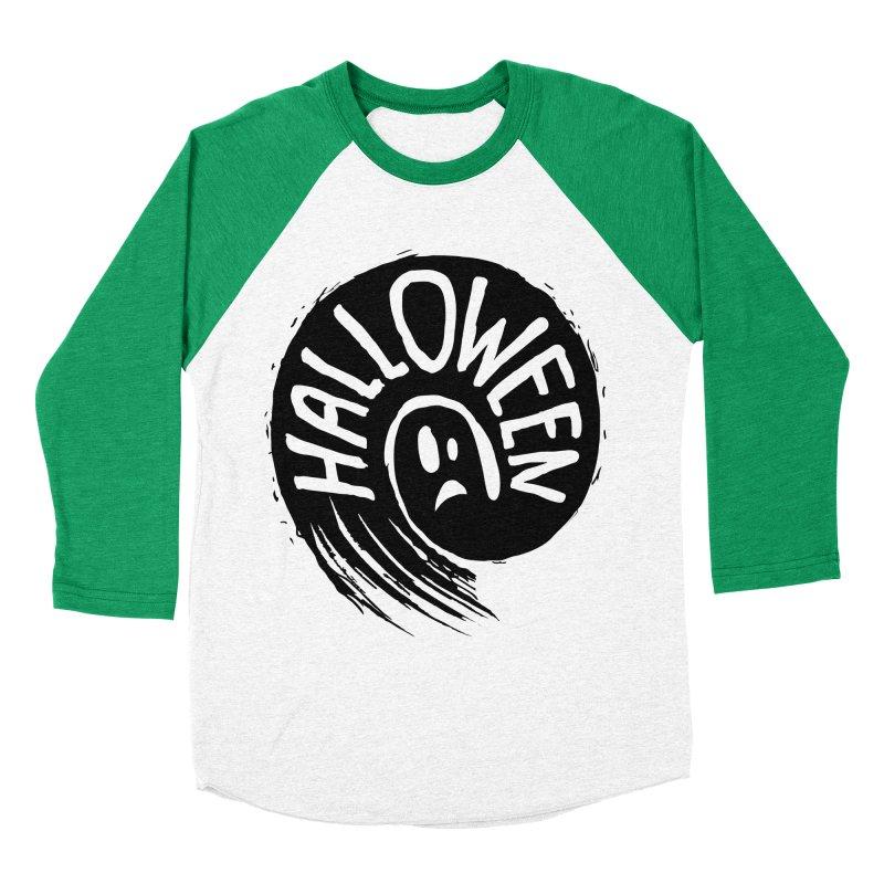 Ghost Women's Baseball Triblend Longsleeve T-Shirt by artfanat.shop