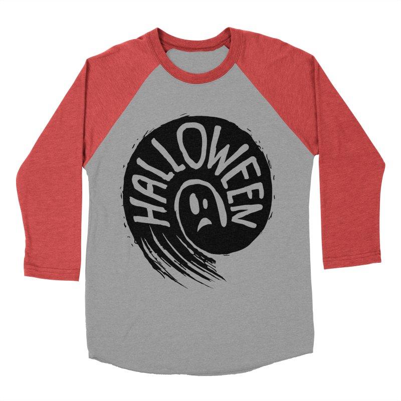 Ghost Men's Baseball Triblend Longsleeve T-Shirt by artfanat.shop