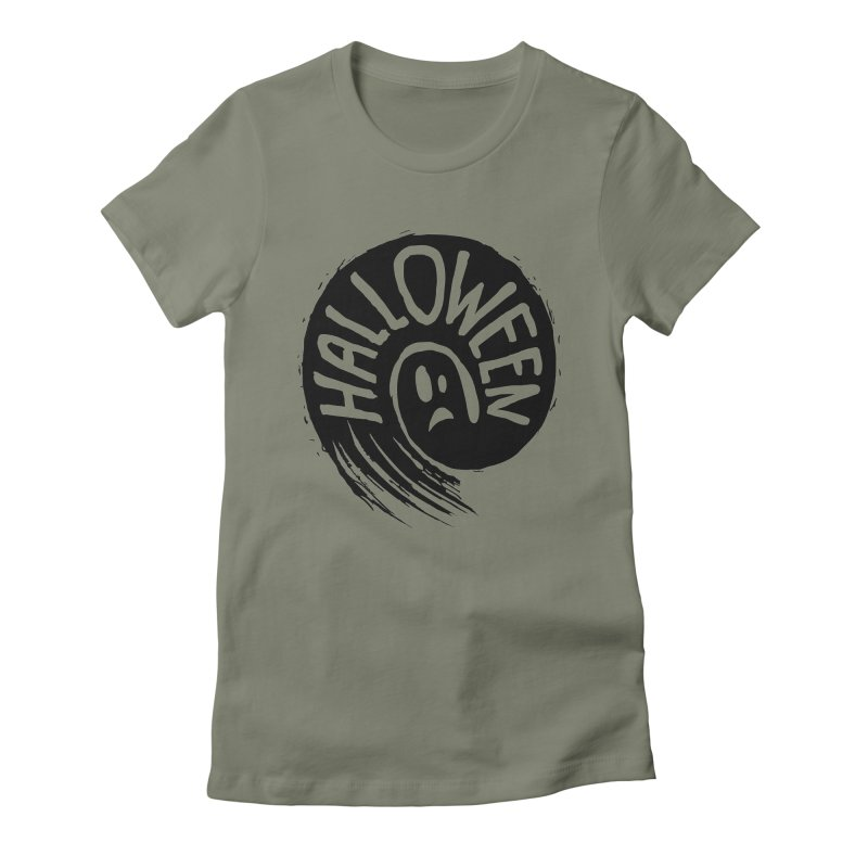 Ghost Women's Fitted T-Shirt by artfanat.shop