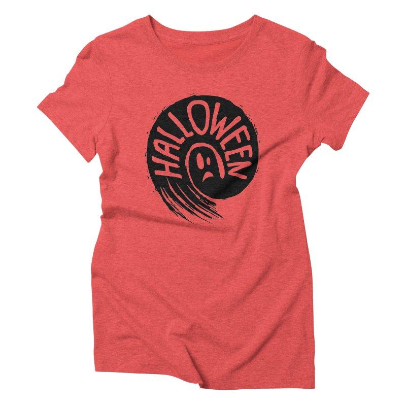 Ghost Women's Triblend T-Shirt by artfanat.shop