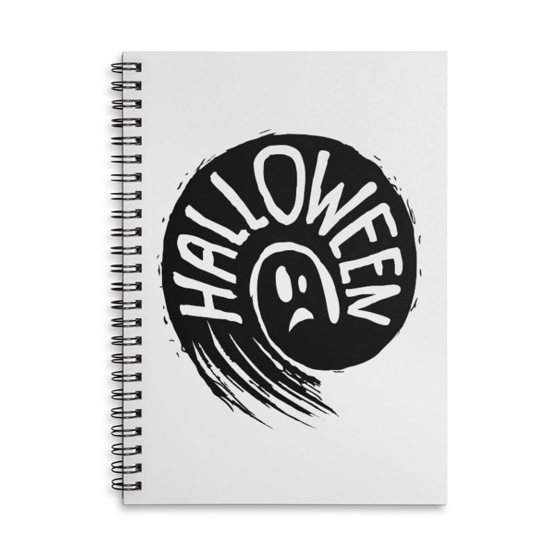 Ghost Accessories Lined Spiral Notebook by artfanat.shop