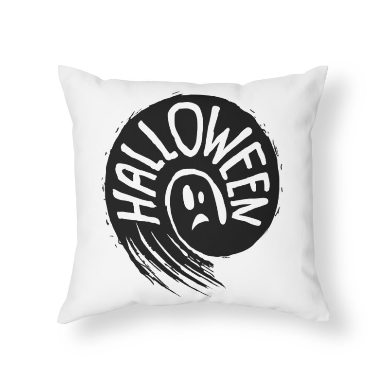 Ghost Home Throw Pillow by artfanat.shop