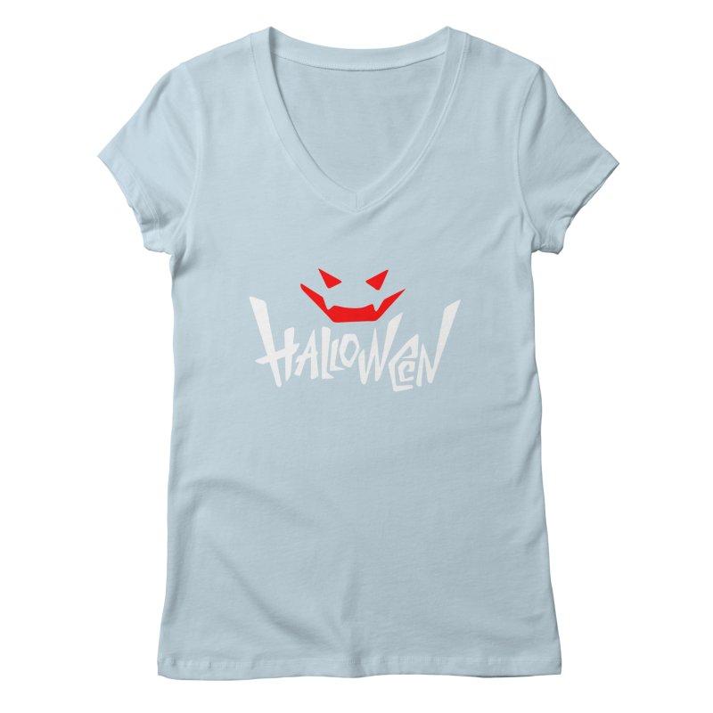 smile Women's Regular V-Neck by artfanat.shop