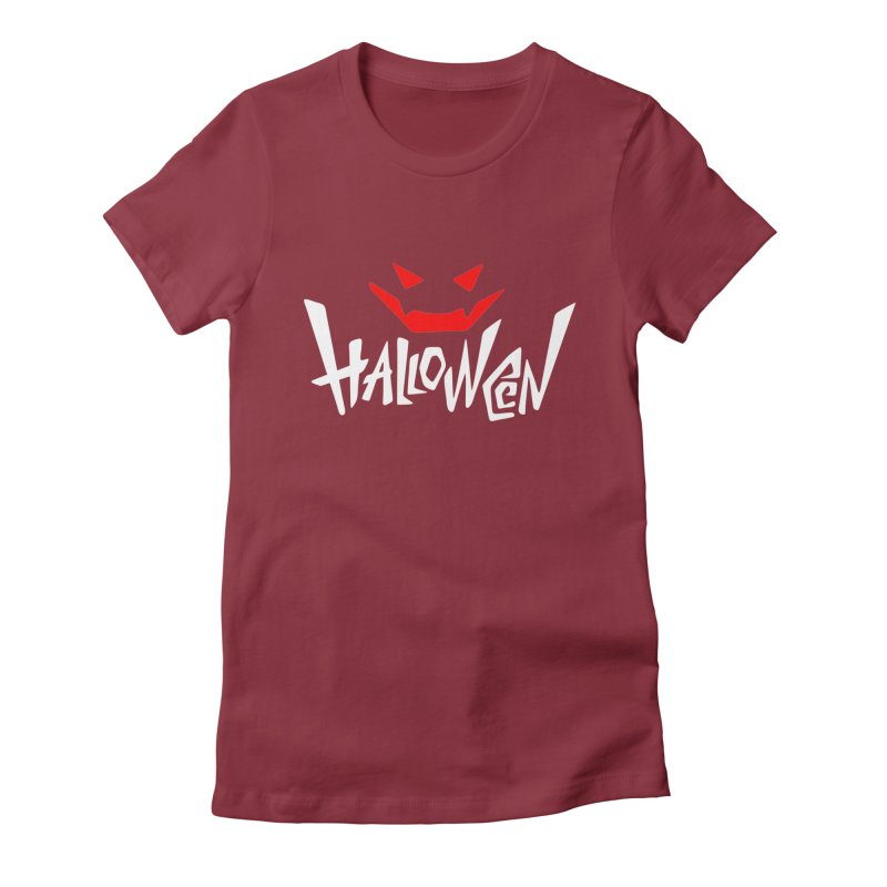 smile Women's Fitted T-Shirt by artfanat.shop