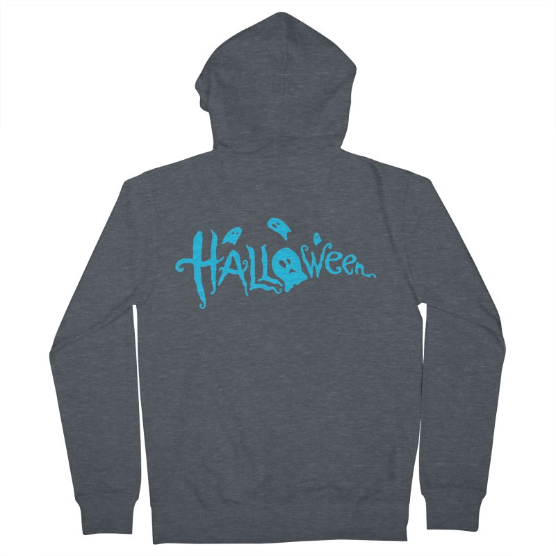 Ghost Women's French Terry Zip-Up Hoody by artfanat.shop