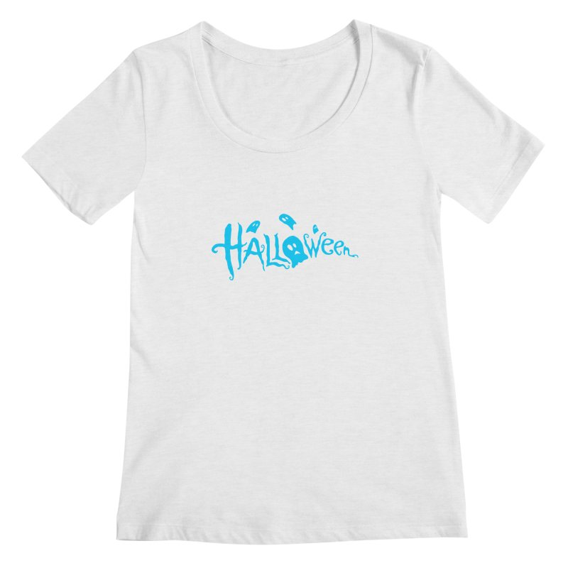 Ghost Women's Regular Scoop Neck by artfanat.shop