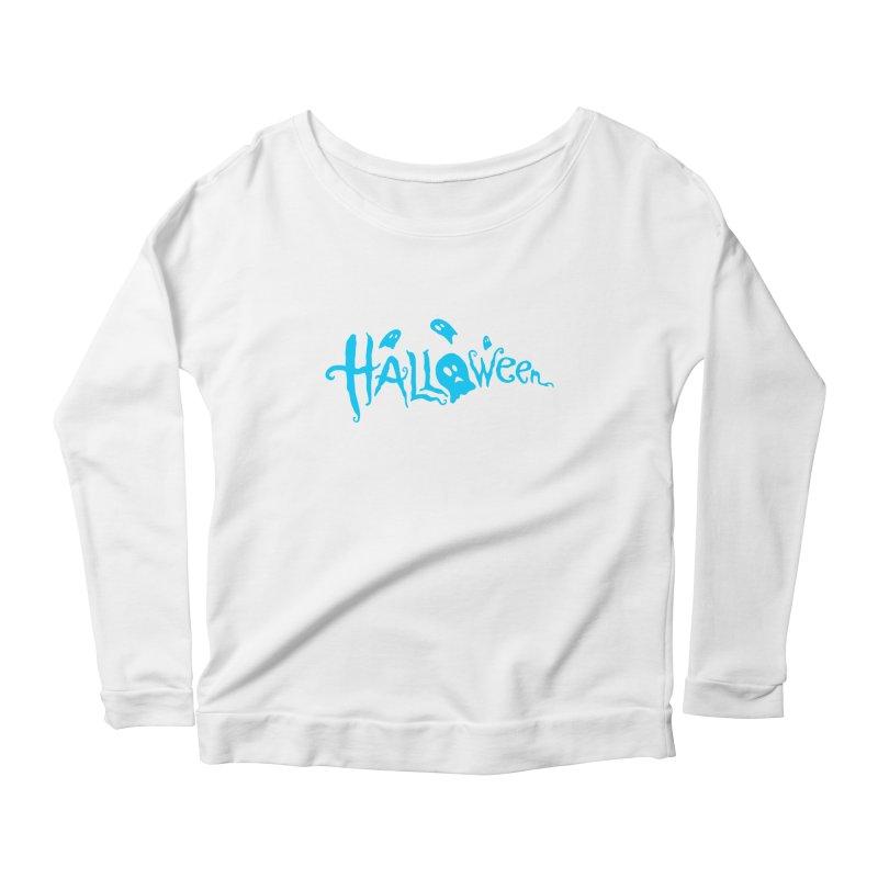 Ghost Women's Scoop Neck Longsleeve T-Shirt by artfanat.shop