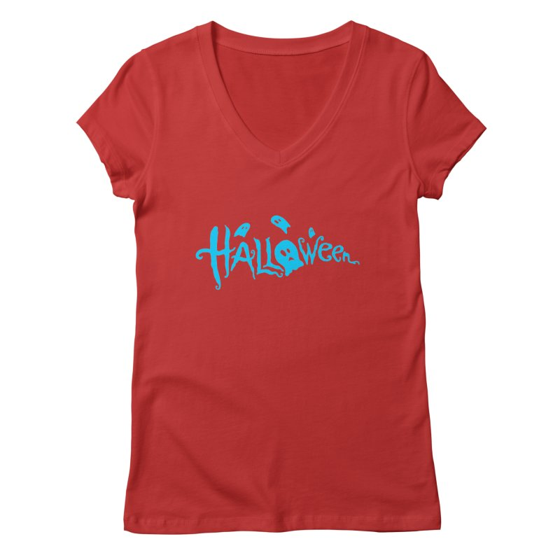 Ghost Women's V-Neck by artfanat.shop