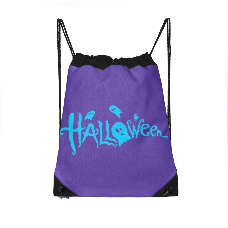 Ghost Accessories Drawstring Bag Bag by artfanat.shop