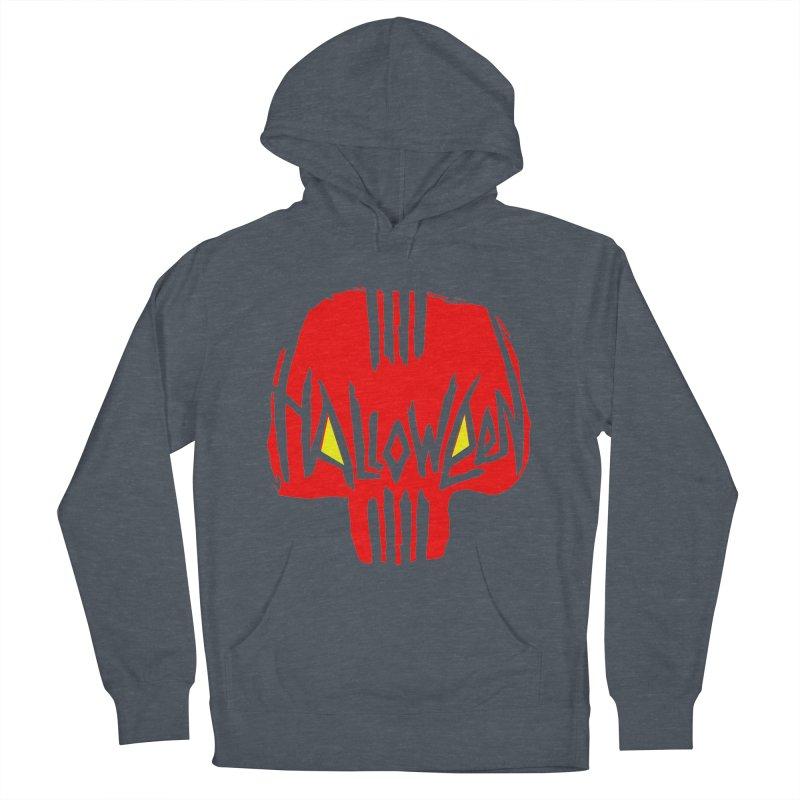 Red skull Men's Pullover Hoody by artfanat.shop