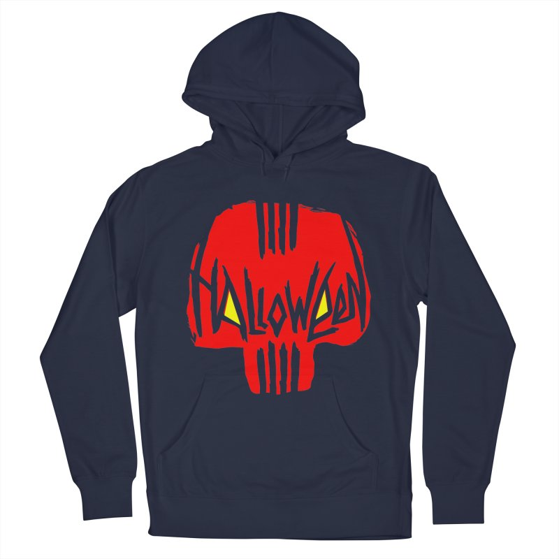 Red skull Men's Pullover Hoody by artfanat.shop
