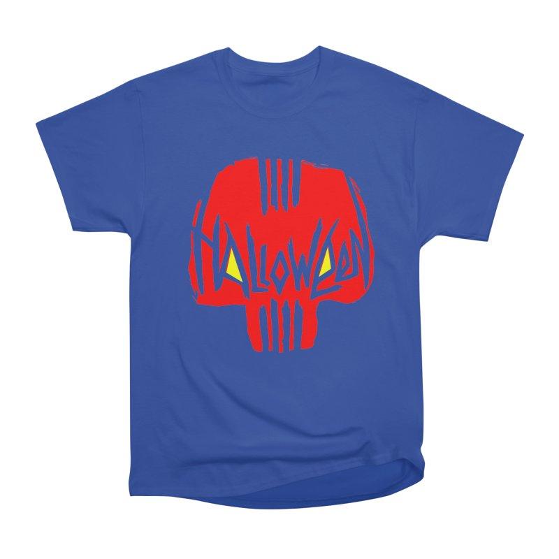 Red skull Men's Heavyweight T-Shirt by artfanat.shop
