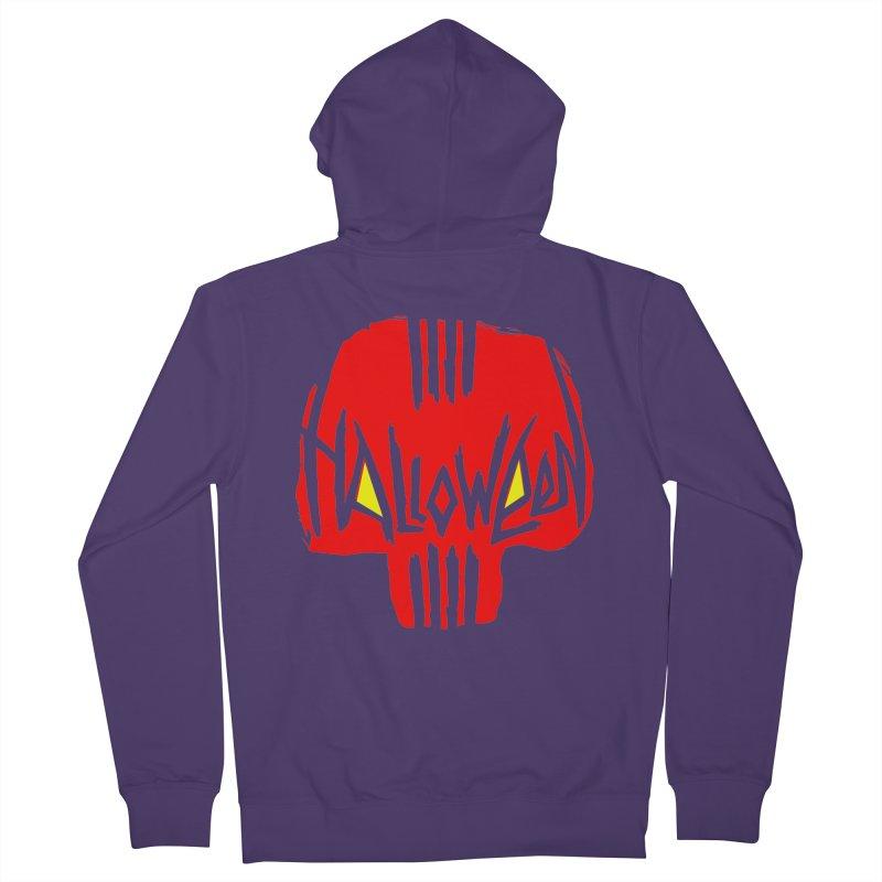 Red skull Women's Zip-Up Hoody by artfanat.shop