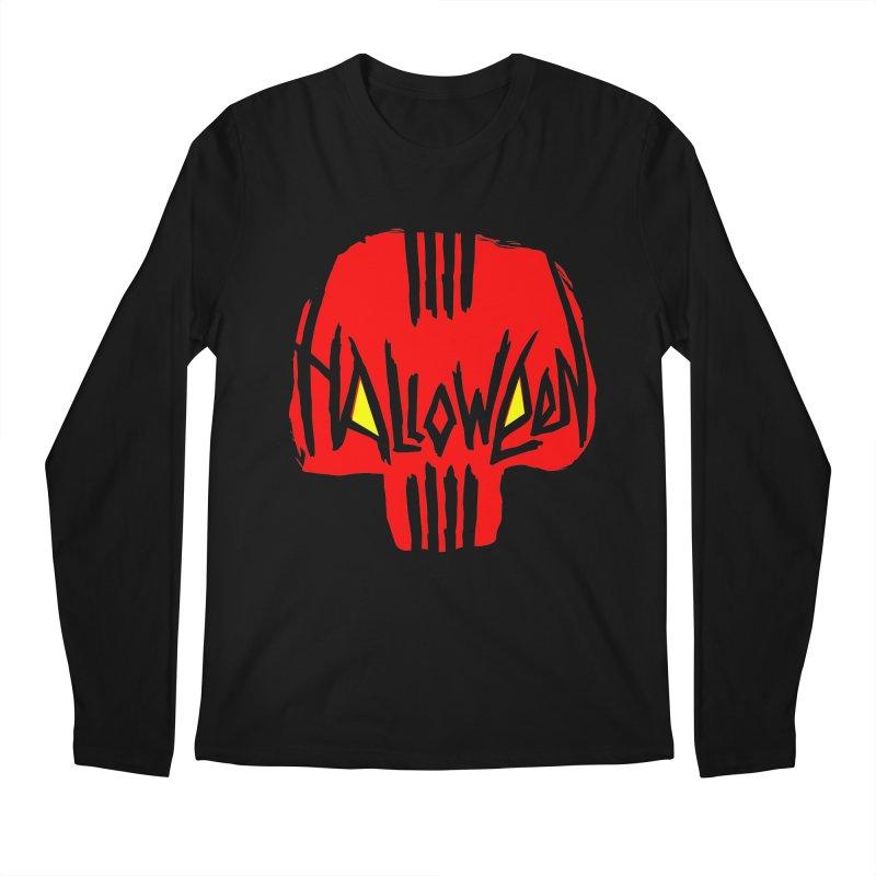 Red skull Men's Regular Longsleeve T-Shirt by artfanat.shop