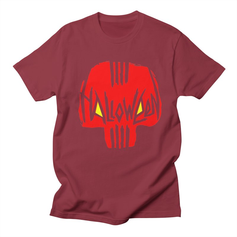 Red skull Men's Regular T-Shirt by artfanat.shop
