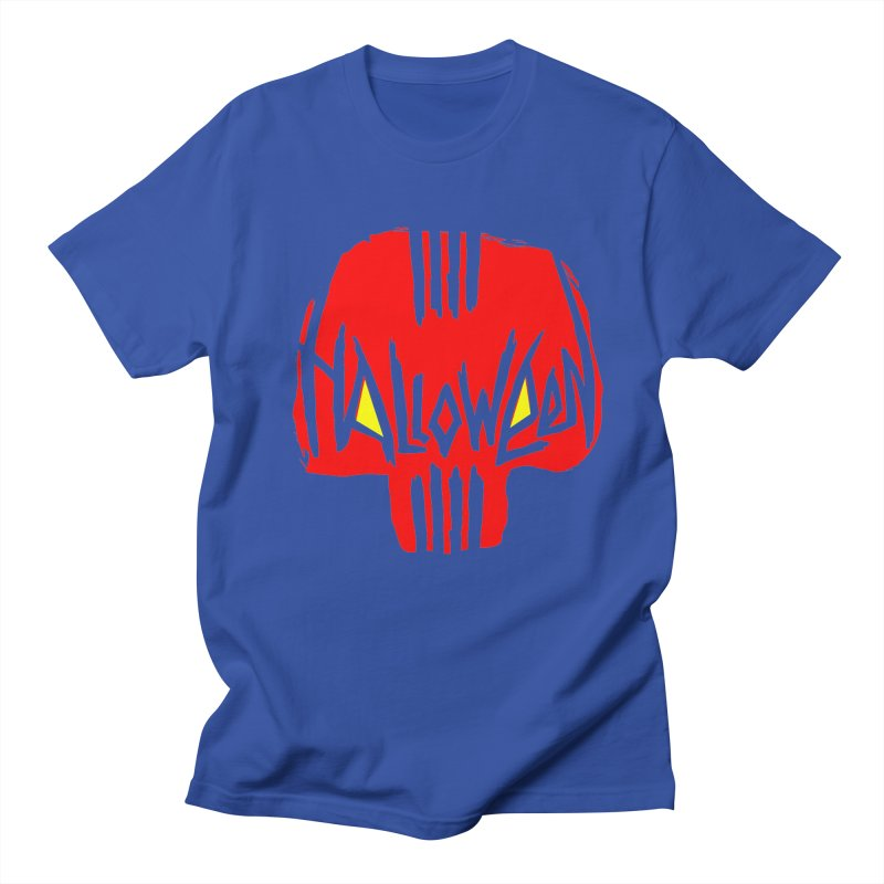 Red skull Men's T-Shirt by artfanat.shop