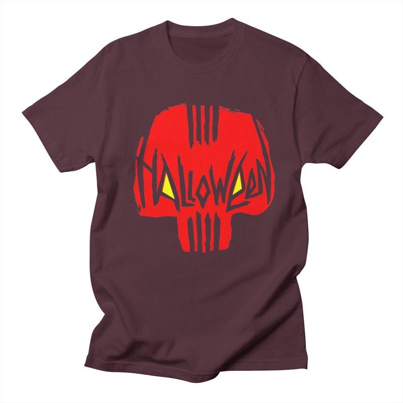 Red skull Women's Unisex T-Shirt by artfanat.shop
