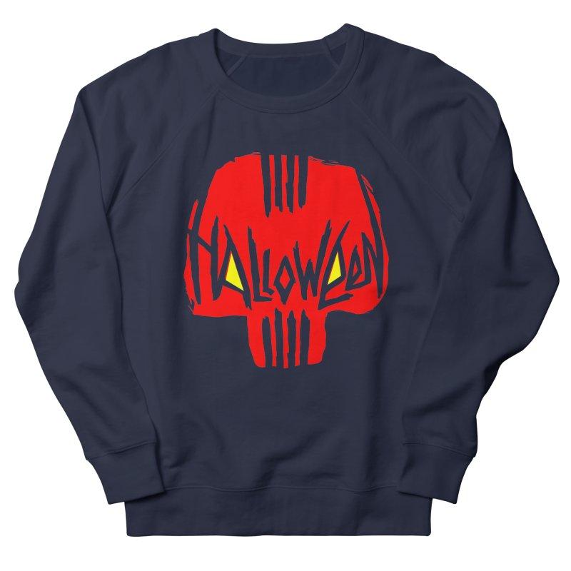 Red skull Men's Sweatshirt by artfanat.shop