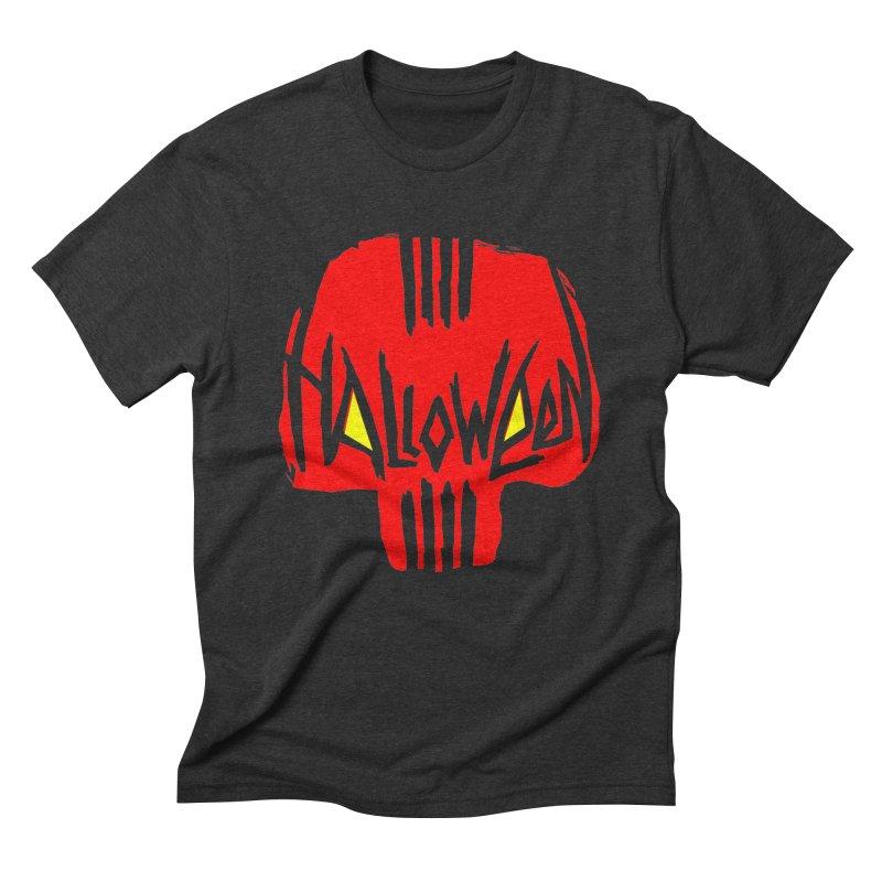 Red skull Men's Triblend T-Shirt by artfanat.shop