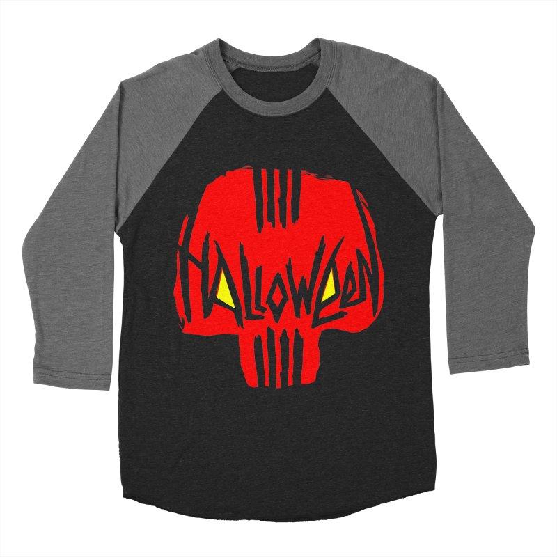 Red skull Women's Baseball Triblend Longsleeve T-Shirt by artfanat.shop