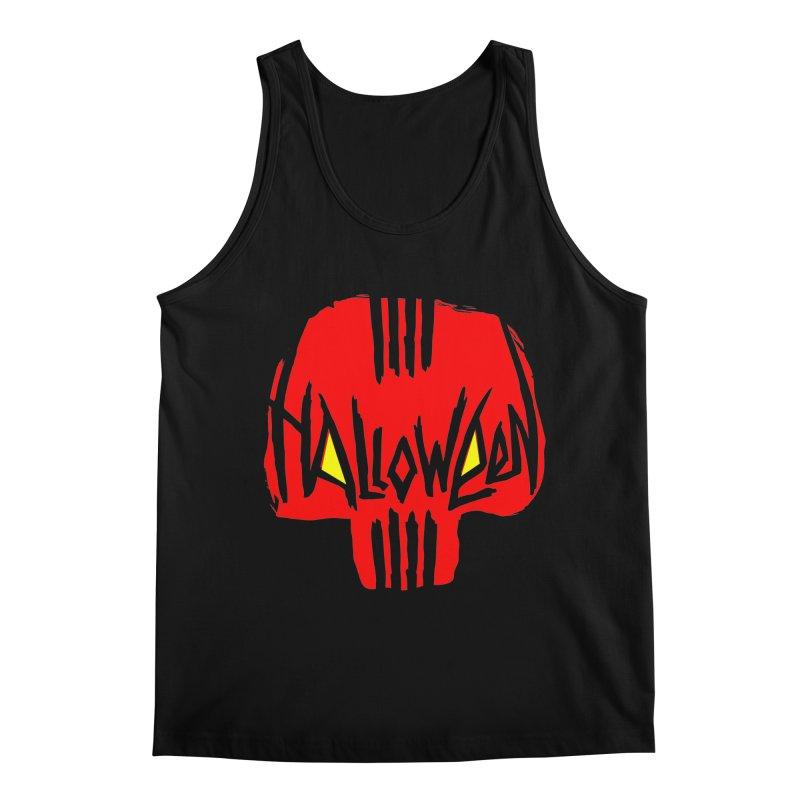 Red skull Men's Regular Tank by artfanat.shop
