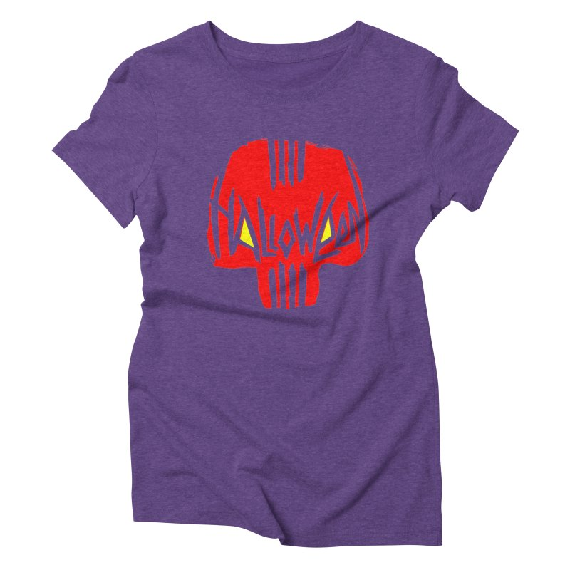 Red skull Women's Triblend T-Shirt by artfanat.shop