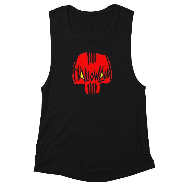 Red skull Women's Muscle Tank by artfanat.shop