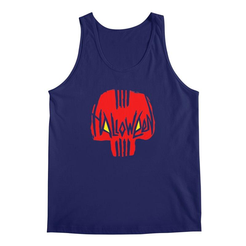 Red skull Men's Tank by artfanat.shop