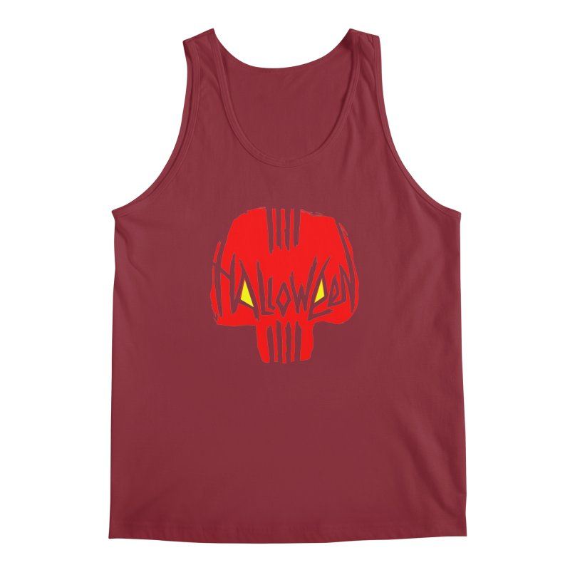 Red skull Men's Regular Tank by artfanat.shop