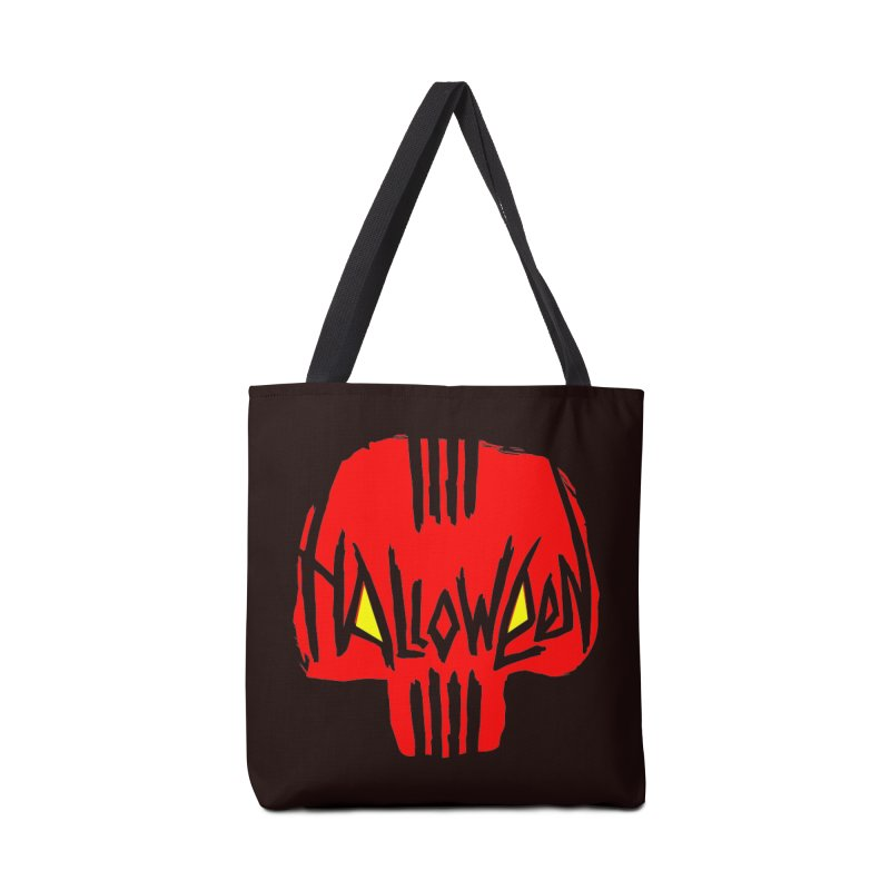 Red skull Accessories Bag by artfanat.shop