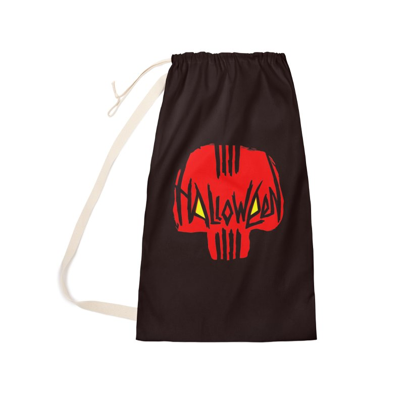 Red skull Accessories Laundry Bag Bag by artfanat.shop