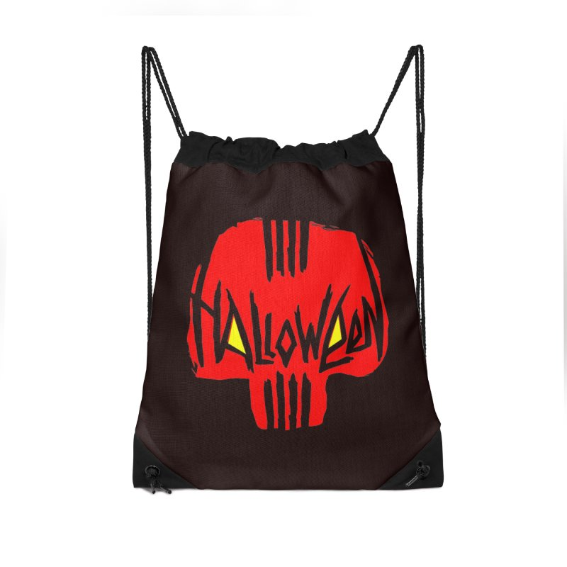 Red skull Accessories Drawstring Bag Bag by artfanat.shop