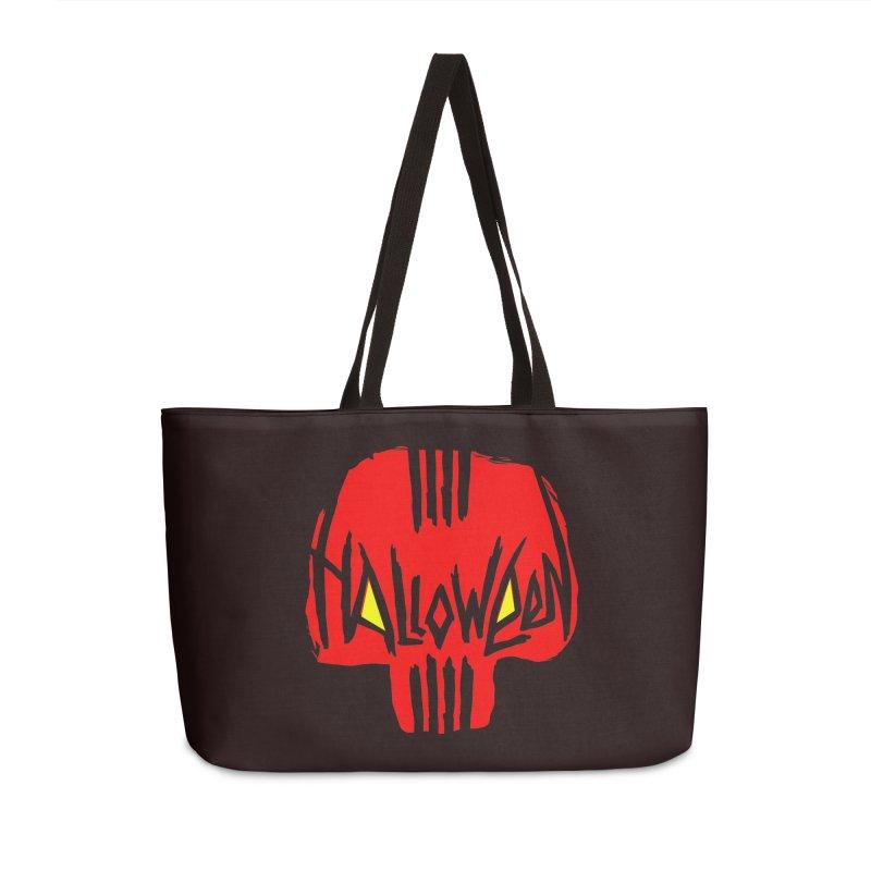 Red skull Accessories Weekender Bag Bag by artfanat.shop