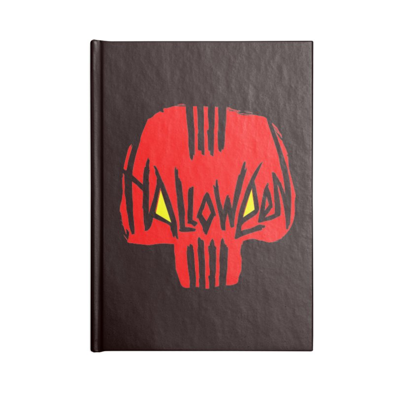 Red skull Accessories Notebook by artfanat.shop