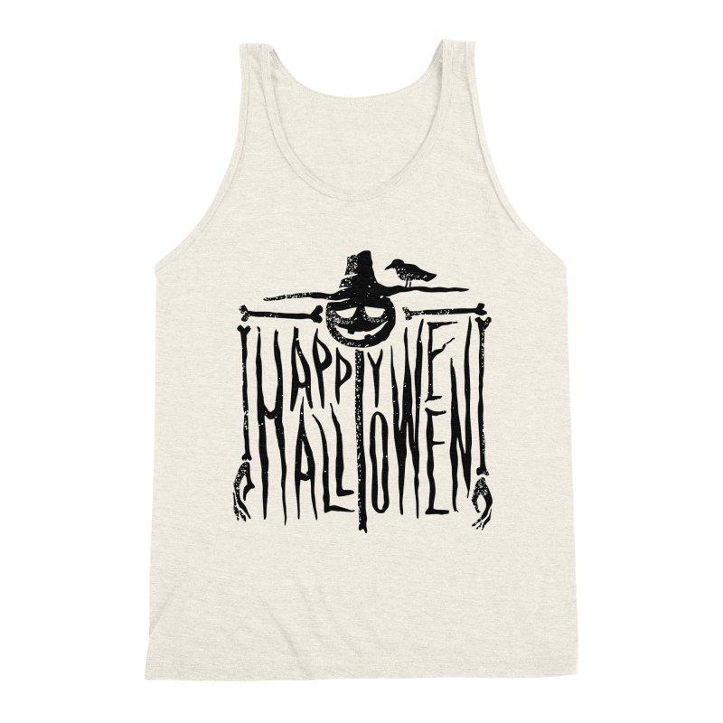 Scarecrow  Men's Triblend Tank by artfanat.shop