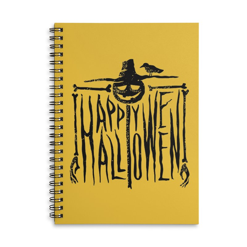 Scarecrow  Accessories Lined Spiral Notebook by artfanat.shop
