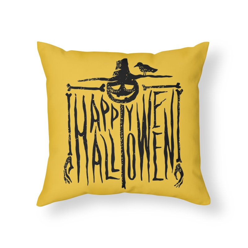 Scarecrow  Home Throw Pillow by artfanat.shop