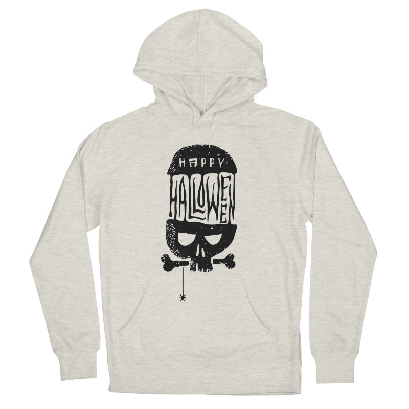Black skull  Men's Pullover Hoody by artfanat.shop