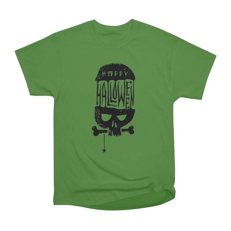 Black skull  Men's Classic T-Shirt by artfanat.shop