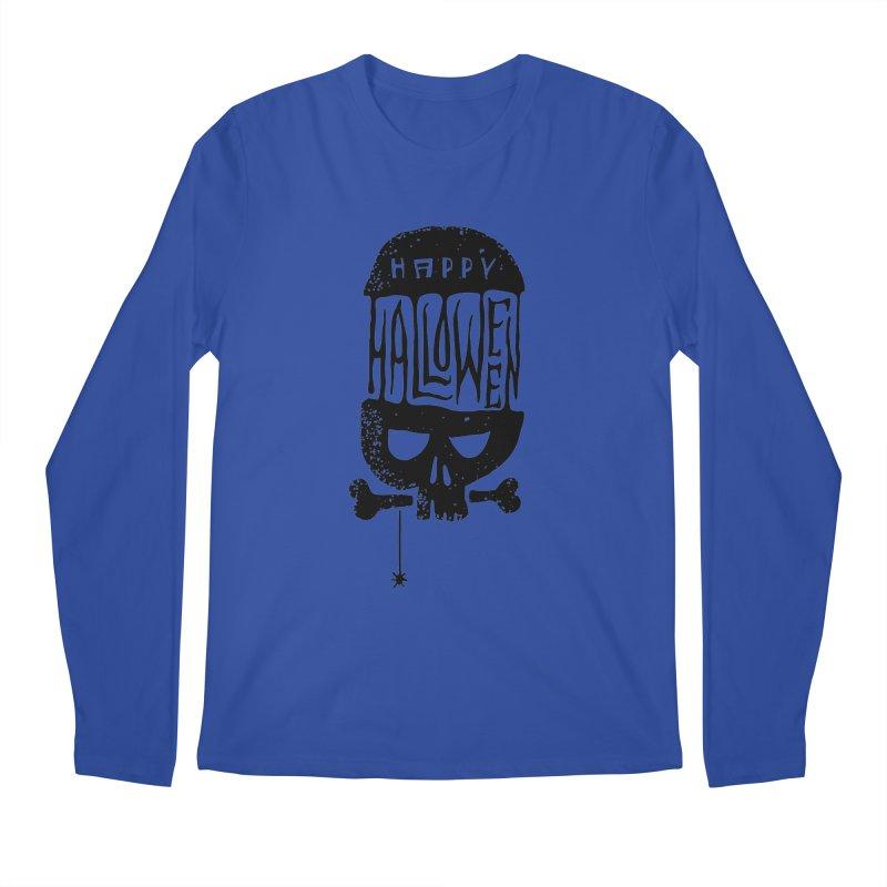 Black skull  Men's Regular Longsleeve T-Shirt by artfanat.shop