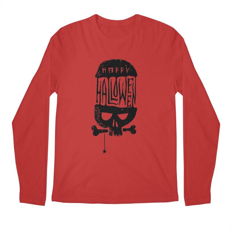 Black skull  Men's Longsleeve T-Shirt by artfanat.shop