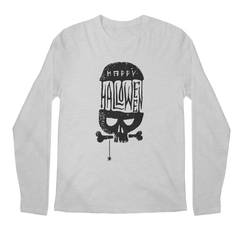 Black skull  Men's Regular Longsleeve T-Shirt by artfanat.shop