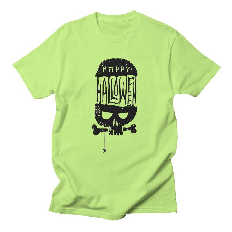 Black skull  Men's Regular T-Shirt by artfanat.shop