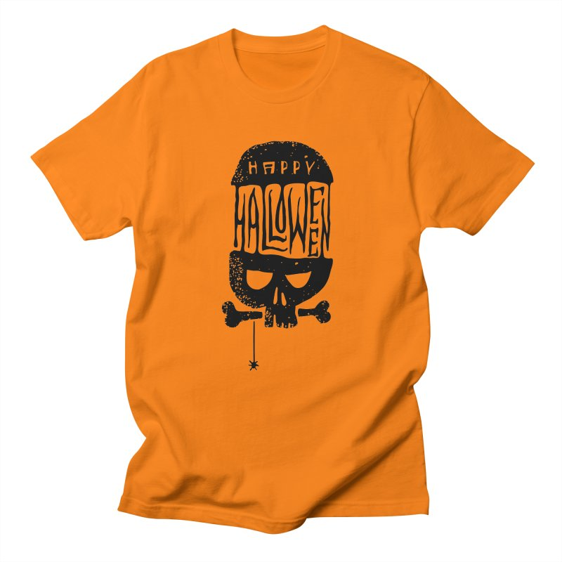 Black skull  Men's Regular T-Shirt by artfanat.shop