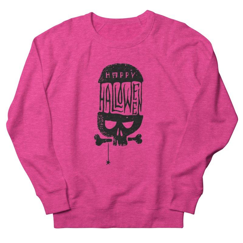 Black skull  Men's French Terry Sweatshirt by artfanat.shop