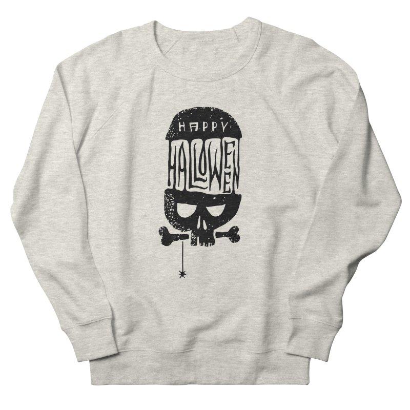 Black skull  Men's Sweatshirt by artfanat.shop