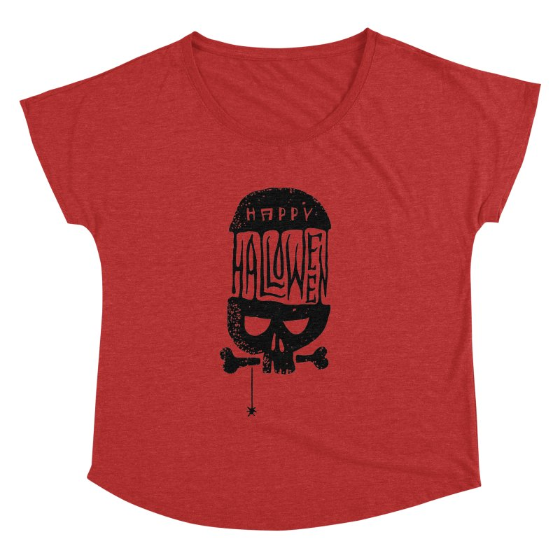 Black skull  Women's Dolman by artfanat.shop