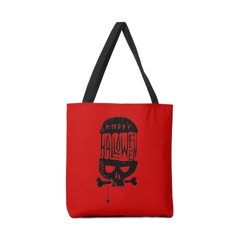 Black skull  Accessories Bag by artfanat.shop